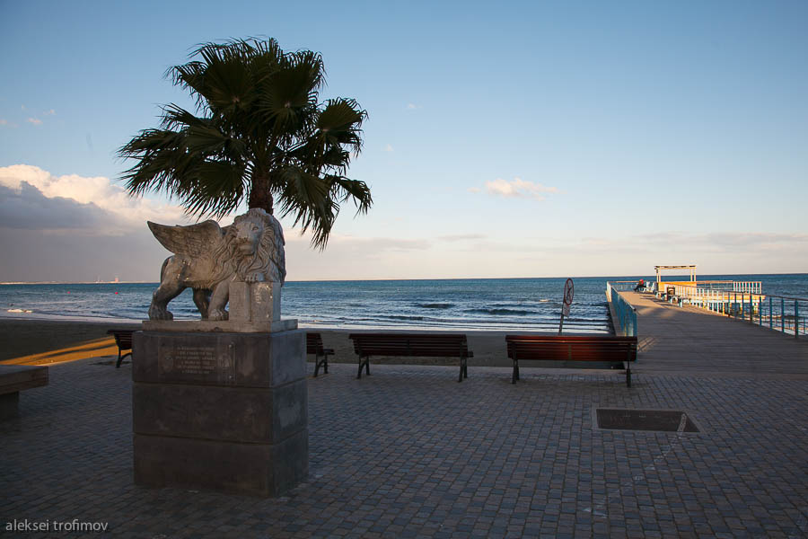 Larnaca seafront lion of Venice